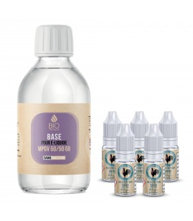 Pack Diy 1Litre 50/50 Bio France E-Liquide